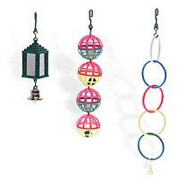 Lattice Balls, Mirrored Lantern with Bell, Parakeet Rings bird toys